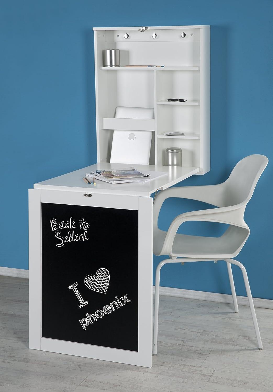 Phoenix Schreibtisch, Holz, Wei, 60x75x15.5