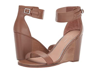 LINEA Paolo Elodie Wedge Sandal (Cognac Nappa Leather) Women