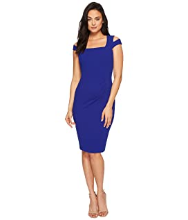 Square Neck Sheath with Shoulder Cut Outs CD8C15GG