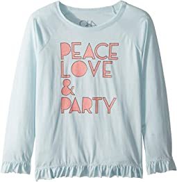 Soft Vintage Jersey Peace Love & Party Tee (Little Kids/Big Kids)