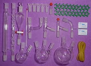 NANSHIN Glassware,lab glassware kit 24/40,Advanced Chemistry Lab Glassware,Laboratory glassware