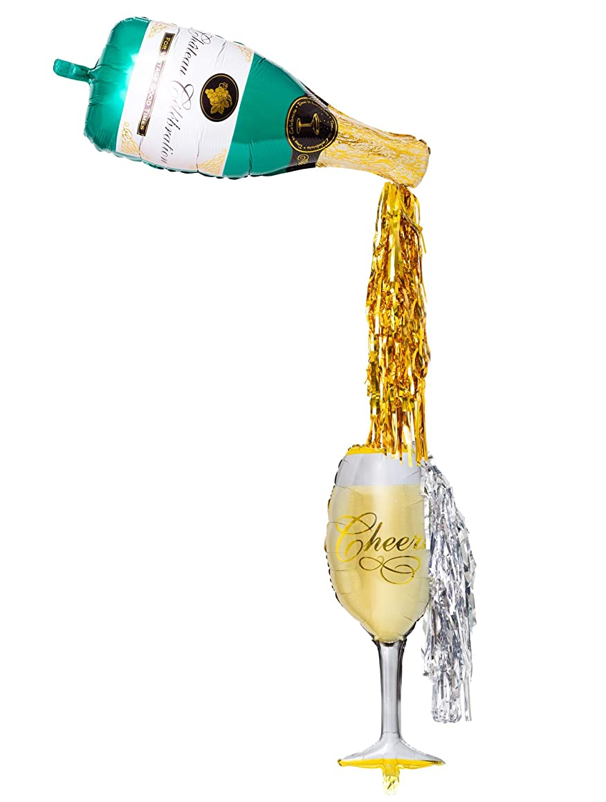 Prim & Kiki Pop the Bubbly! Large Champagne Balloon Kit with 36