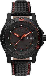 Traser - Reloj H3 de relojes Red bolas de soldadura de cuero rojo 105502