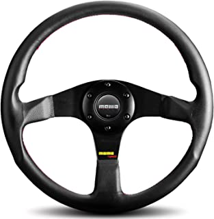 MOMO Tuner Black 350 steering wheel with red stitching