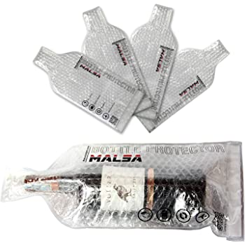 MALSA Wine Bottle Protector – Wine Sleeves Pack In Travel Luggage And Suitcase – Portable And Reusable Bags – Inner Skin With Tough Leak Proof Outside – Pack Of 4