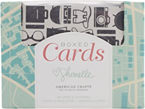 American Crafts A2 Cards and Envelopes 40 per Package 4.25 x 5.5 inches, Shimelle