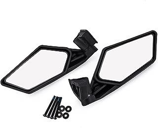 UTV Side Mirror Rear view Mirror Racing Side Mirrors for UTV Polaris RZR Can Am Maverick X3 2017 2018 Suzuki Quadracer 450 2006-2009 (Pair of mirror)