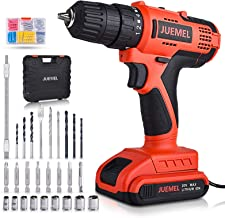 20V MAX Cordless Drill/Driver, JUEMEL 100Pcs Accessories Electric Power Drill Set, 2-Speed with Variable Speed Trigger, 3/...