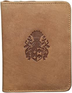 Style98 Tan Leather Passport Wallet