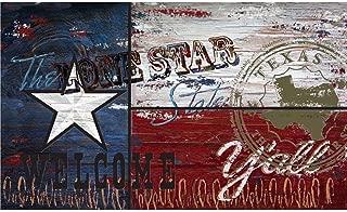 Apache Mills Texas Flag 18 in. x 30 in. Recycled Rubber Door Mat