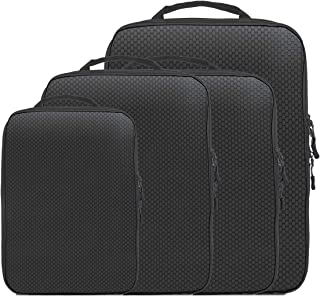 Magictodoor Dual Sided Compression Packing Cubes Separate Dirty Clothes While Traveling