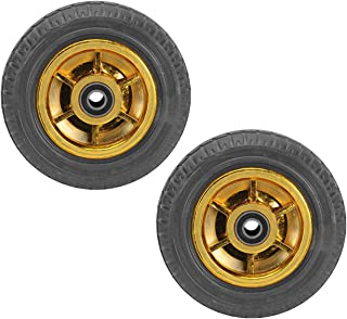 YJJT Industriële wielen, massieve rubberen wielen, hoge elasticiteit, stil rijden, flexibel en stabiel, anti-corrosie en r...