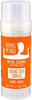 Primal Pit Paste All-Natural Deodorant - Aluminum & Paraben Free - Orange Creamsicle (Orange Vanilla) Deodorant Stick