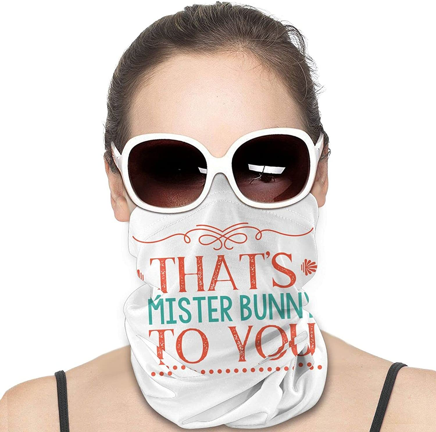 That's Mr. Asshole to You Round Neck Gaiter Bandnas Face Cover Uv Protection Prevent bask in Ice Scarf Headbands Perfect for Motorcycle Cycling Running Festival Raves Outdoors