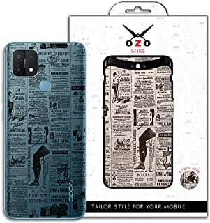 Ozo Ray skins Transparent Magazine Print Style (SV504MPS) (Not For Black Phone) for oppo a15s