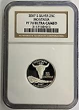 2007 S Statehood Silver Montana Quarter 25c PF-70 Ultra Cameo NGC