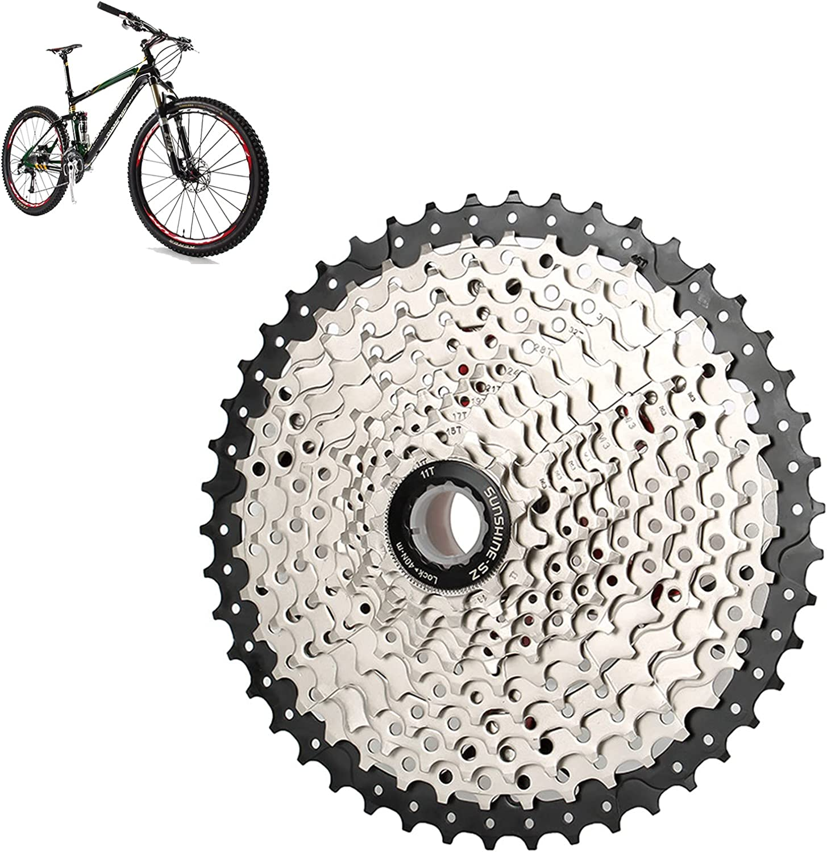 ConBlom Casete de 12 velocidades, 11-46T bicicleta de montaña volante rueda libre de metal, accesorios de repuesto de casete SHIMANO MTB S-R-A-M