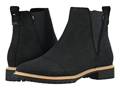 TOMS Cleo (Water Resistant Black Leather) Women