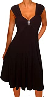 Plus Size Women Empire Waist A Line Slimming Cocktail Dress Made in USA