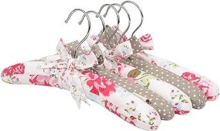 NEOVIVA Kids Coat Rack Clothes Hangers for Childrens Closet, Set of 5 Childrens Clothing Hangers for Toddler Girls, Floral Lollipop Red