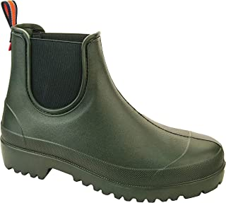 de4fe97da1fa Lemigo Slip On EVA Garden Wellies Ankle Boots Equestrian Stable Muck Yard  Chelsea Shoes Green