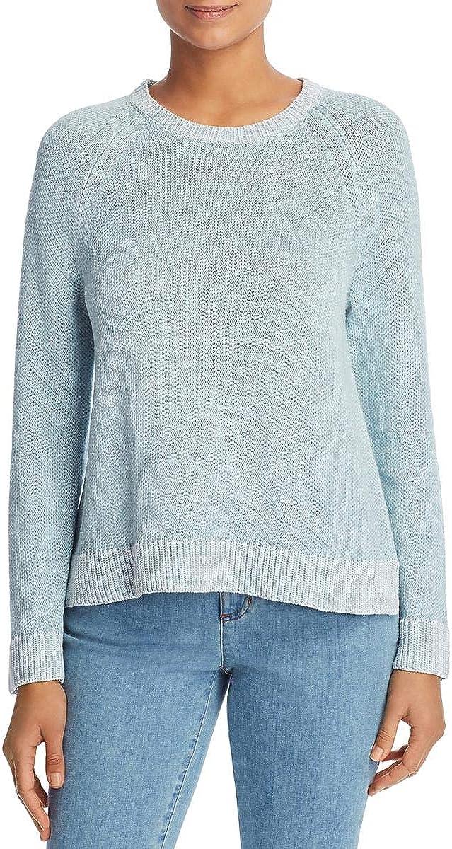 Eileen Fisher Womens Linen Crewneck Pullover Sweater