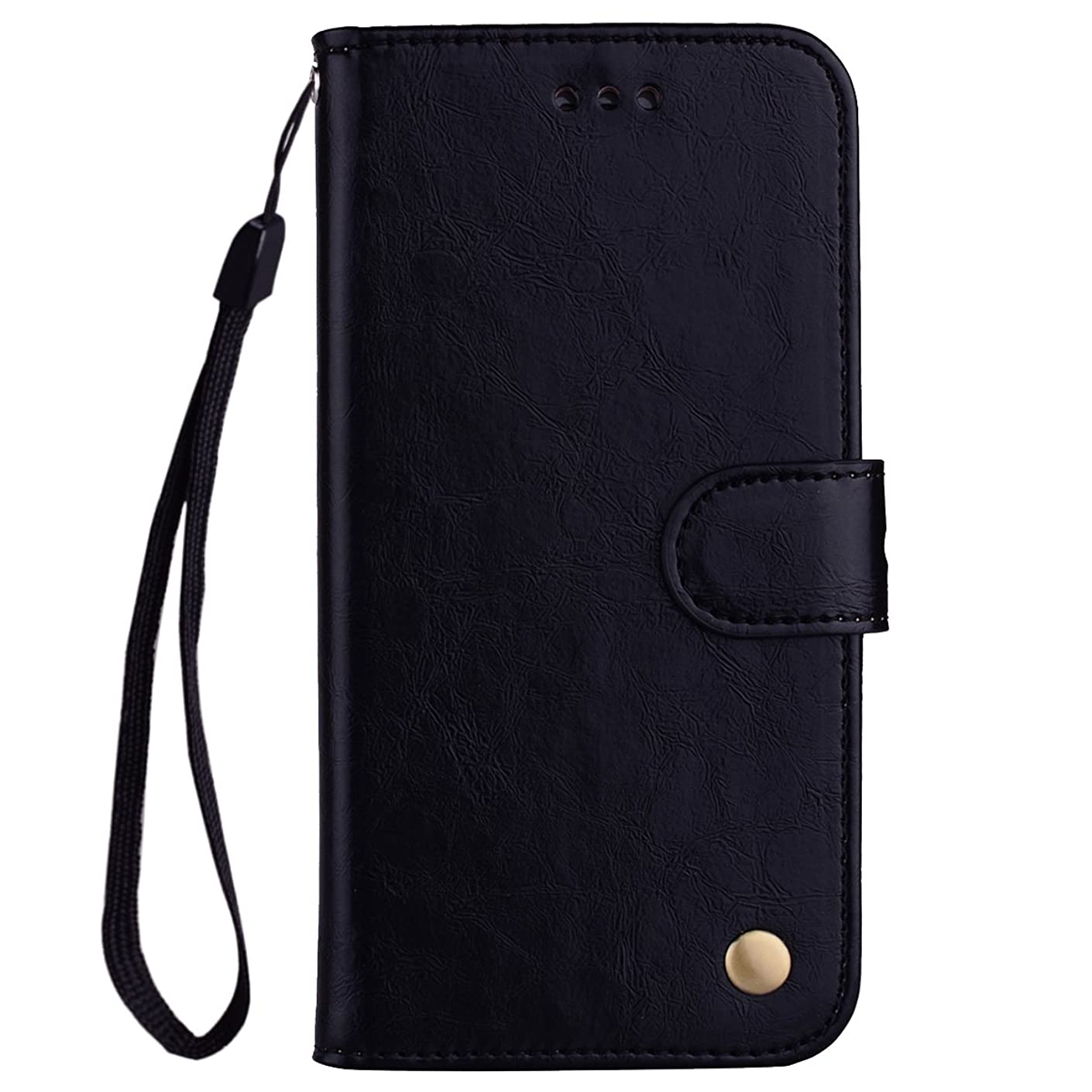 Scheam iPhone 7 Plus iPhone 8 Plus Wallet Case, [Folio Style ] Premium iPhone 7 Plus iPhone 8 Plus Card Cases Stand Feature for iPhone 7 Plus iPhone 8 Plus [Black ] Leather Case Flip Cover with
