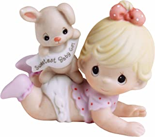 Precious Moments,  The Sweetest Baby Girl, Bisque Porcelain Figurine, 101501