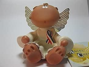 Angel Cheek Figurine with Ribbon
