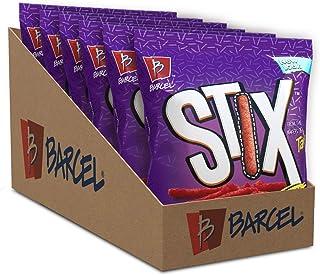 Barcel Stix – Crispy Corn Snacks – Fuego Flavor (Hot Chili Pepper & Lime), 6 Individual Snack Pack Bags (4 oz each)