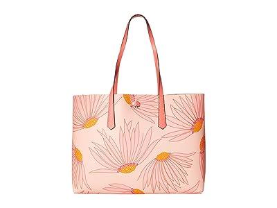 Kate Spade New York Molly Grand Daisy Large Tote (Pink Multi) Handbags