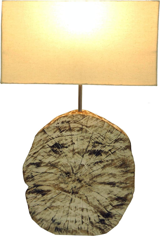 Guru-Shop Tischlampe Tischleuchte Medan - in Bali Handgemacht aus Naturmaterial, 54x35x16 cm, Dekolampe Stimmungsleuchte