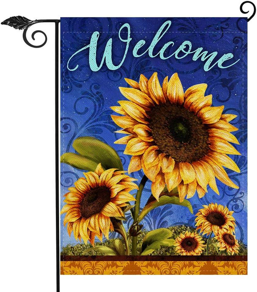 Baltimore Mall Hzppyz Sunflowers Welcome Popular overseas Garden Flag Decora Spring Home Summer