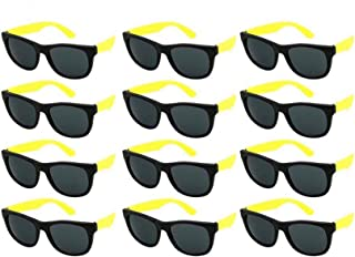 Edge I-Wear 12 Pack Kids Neon Sunglasses Party Favors w/CPSIA certified-Lead(Pb) Content Free 9402RA