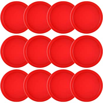 Coopay 12 Pieces Home Air Hockey Pucks 2.5 Inch Heavy Replacement Pucks for Game Tables Equipment Accessories, 13 Grams
