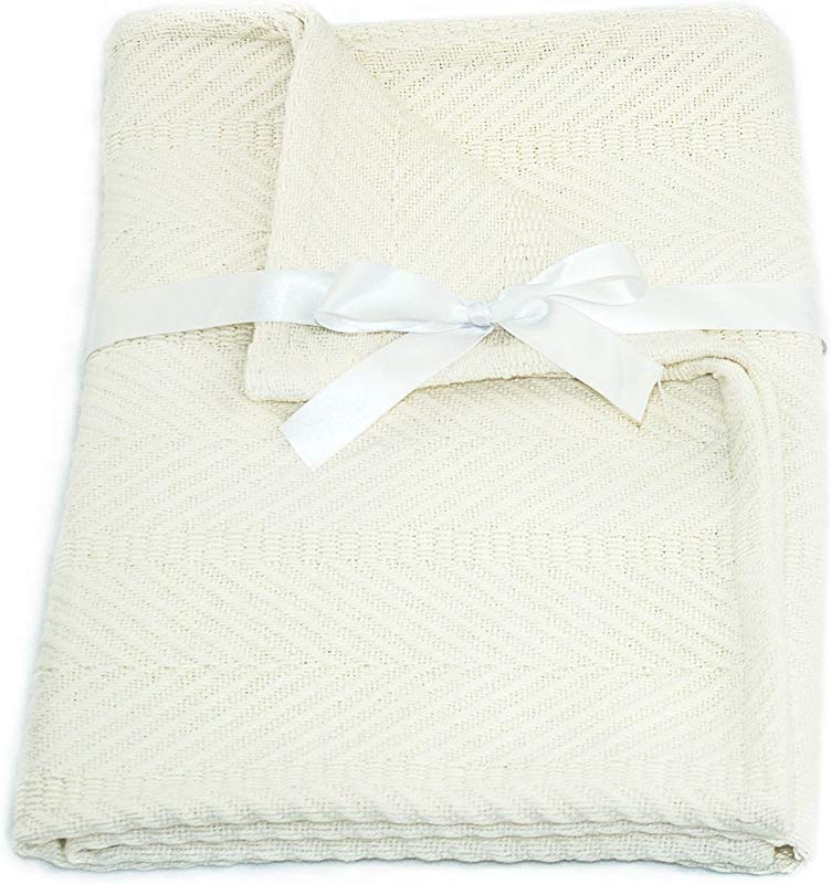 Cozy Bed Egyptian Cotton Baby Blanket Ivory