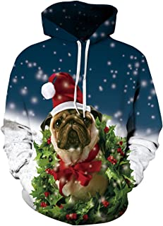 Bestale 3D Graphic Pullover Hoodies, Unisex 3D Printed Lighweight Drawstring Pockets Hoody Sweatshirts for Men and Women