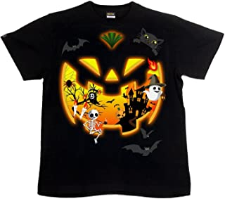 [GENJU] Tシャツ ハロウィン カボチャ イベント 裏もデザイン有 パーティ メンズ キッズ