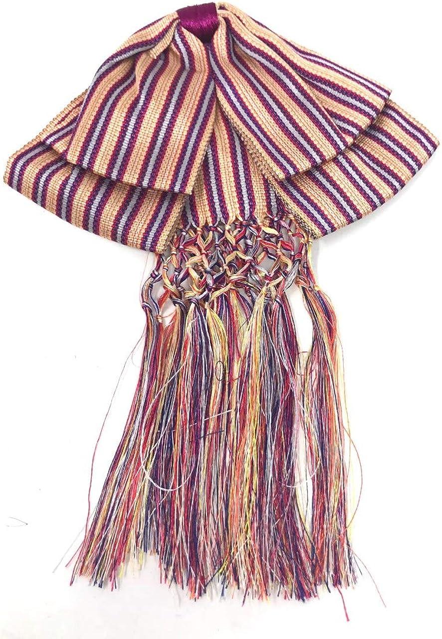 Bow tie charro Mexican party costume Striped Orange and Purple
