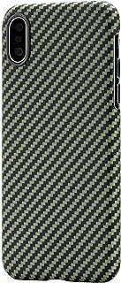 「PITAKA」Magcase iPhoneXs Max 対応 ケース スマホケース 軍用防弾チョッキ素材 アラミド繊維 超薄(0.65mm) 超軽量(17g) 6.5インチ 超頑丈 耐衝撃 高耐久性 スリム 薄型 ミニマリスト シンプル 高級なカーボン風 ワイヤレス充電対応(黒/黄 ツイル柄)