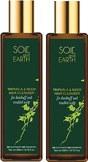 Natural Hair Cleanser Shampoo - Triphala & Neem, 400 ML(Pack of 2 X 200 Ml) - SOiL and EARTH