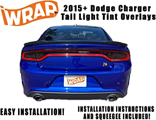 iWrap NY 2015-20 Dodge Charger Tail Light Tint Kit | Exact Cut Dark Smoke Vinyl Overlays for 2015-2020 Dodge Charger Taillight | Tinted Dry Application Film