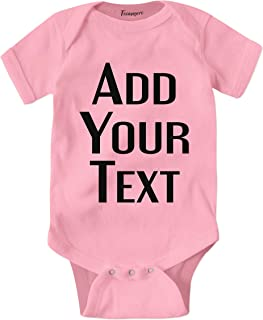 Custom Baby Onesies Add Your Text for Baby Girl & Boy Personalized Bodysuit