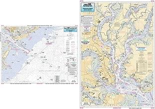 Inshore Charleston Harbor, SC - Laminated Nautical Navigation & Fishing Chart by Captain Segull's Nautical Sportfishing Charts | Chart # CST136