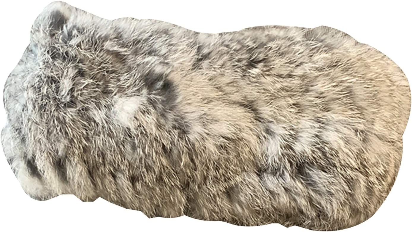 Headbands Hairband Imitating Otter Rabbit Fur Winter Ladies, for Ladies Winter Warm Hair Band (Color : Gray)
