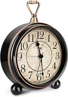 Welltop Retro väckarklocka för vardagsrum bord skrivbord sovrum vintage klassisk icke-tickande gammaldags 12,7 cm klocka b...