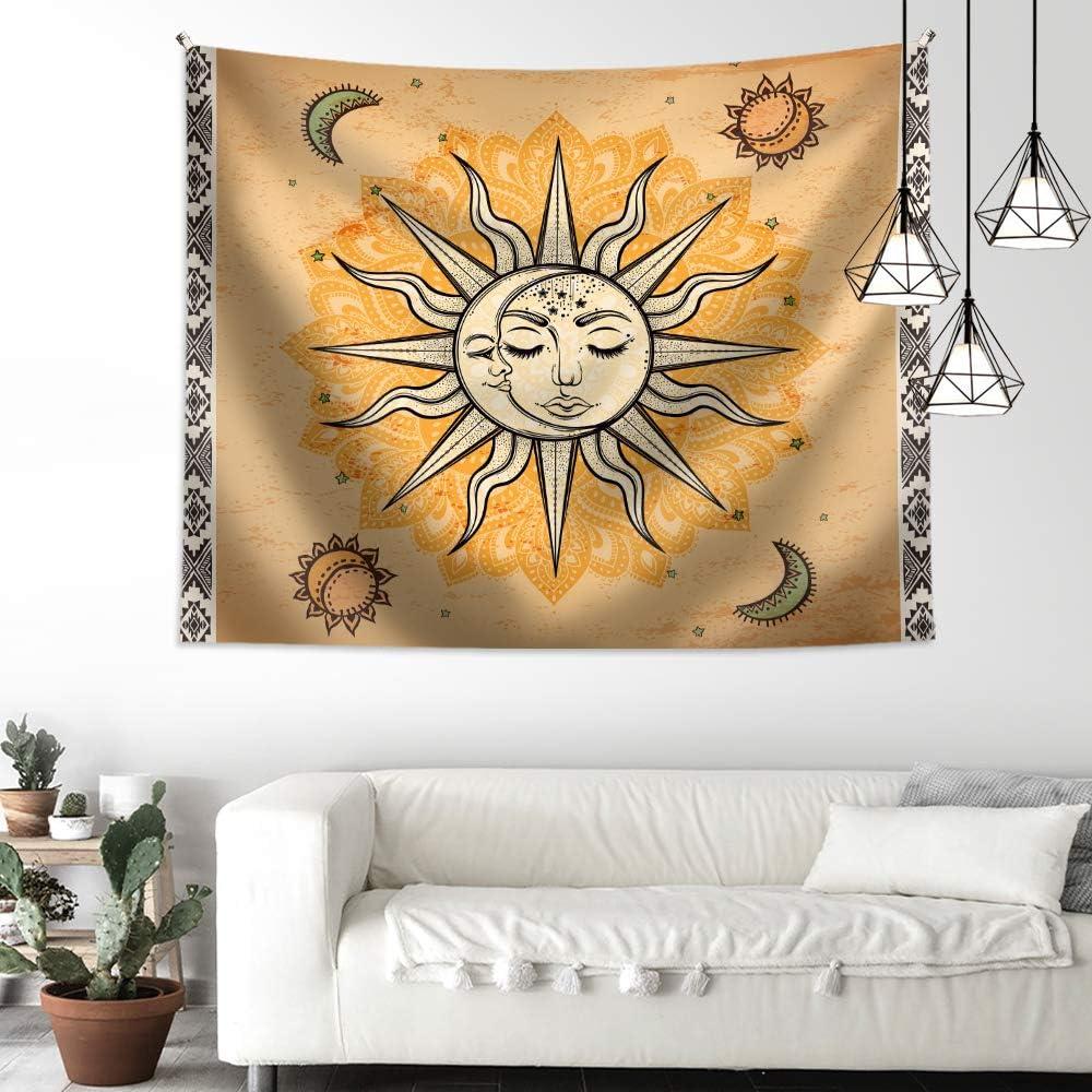 OATHENE Retro Indian Boho Sun Mandala The Tapestry Moon Challenge the lowest Baltimore Mall price Bohemian