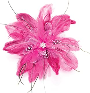 Lillian Rose Hot Pink Feather Fascinator Hair Accessories Clip