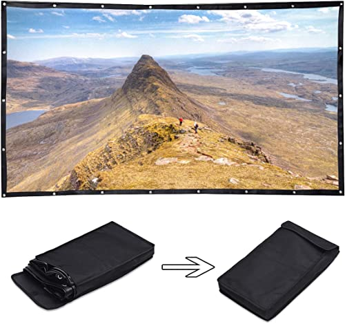 popular Giantex online 120 Inch Projector Screen TV Wall Movie Video Screen 16:9 HD Foldable online Anti-Crease Indoor Outdoor Widescreen for Home Theater, Office Cinema Travel Party Portable Projection Screens (120 Inch) sale