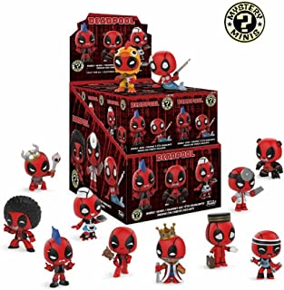Funko Mystery Minis: Marvel Comic Deadpool Bobblehead Mini Toy Action Figure - 2 PACK BUNDLE